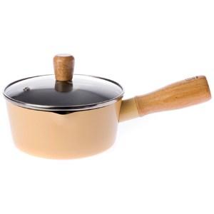 HOLA 單柄調理湯鍋 16cm 櫻草黃