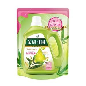 茶樹莊園-茶樹天然濃縮消臭洗衣精補充包1300g