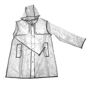 HONEY COMB 韓國時尚透明雨衣 買一送一 GT-3042 黑色