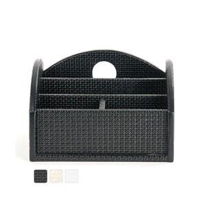 【Finara 費納拉】溫莎公爵黑色-雙排多功能遙控器置物盒/收納盒