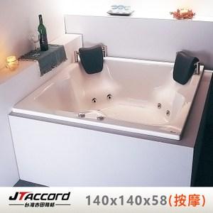 【台灣吉田】T403 方形壓克力按摩浴缸140x140x58cm