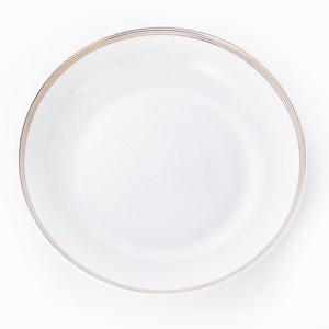HOLA 緻金骨瓷飯盤 21.5cm 迴圈 可適用微波爐及洗碗機
