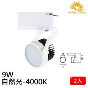 HONEY COMB LED 9W 防眩軌道式燈具 2入一組TK6201-4 自然光