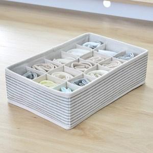 日式內衣收納盒-(簡約線條)15格