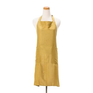 HOLA 素色織紋圍裙70x80cm芥黃色