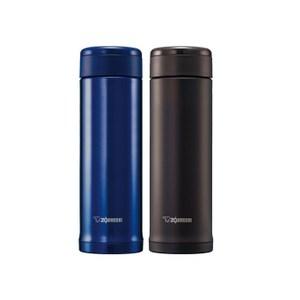買一送一【象印】 0.5L*SLiT不鏽鋼真空保溫杯 SM-AGE50青金藍色AC+深可可