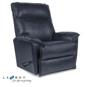 La-Z-Boy 搖椅式休閒椅 10T706-AV714866 半牛皮 藍色