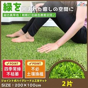 Incare 高品質仿真人造草皮地板-2入(1.21坪)
