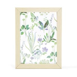 Flora 芙蘿拉透明壓花相框大 淺木紋
