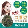 日本BMXrobot Genki 元氣一號 空氣清淨機口罩/迷彩綠